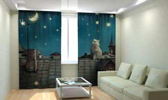 Фотошторы кот лунатик