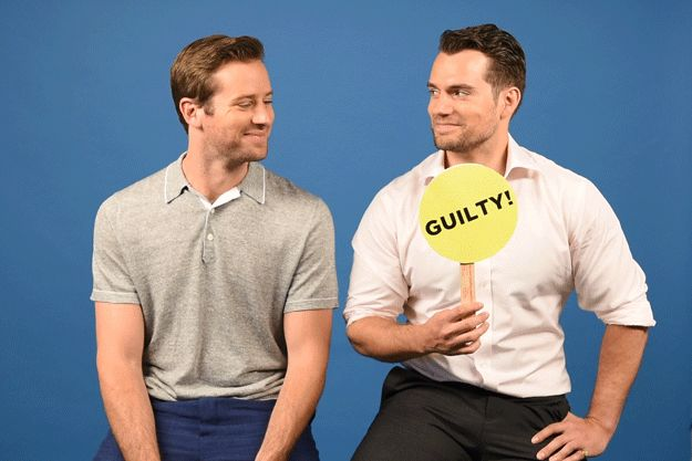 """Henry Cavill & Armie Hammer Play A Game Of """"Never Have I Ever"""" Never have I ever been in handcuffs."""