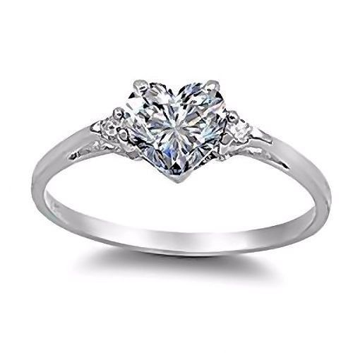 Cassie: 0.81ct Heart Cut Ice on Fire CZ Promise Friendship Ring