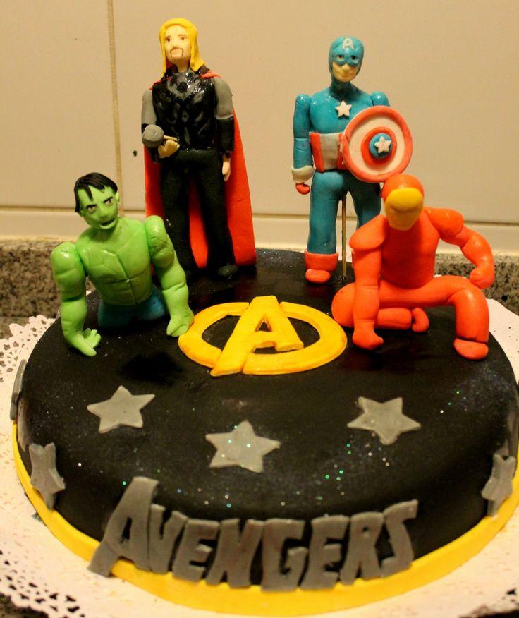 Torta Infantil Los Vengadores Las Tortas De Tere Pinterest