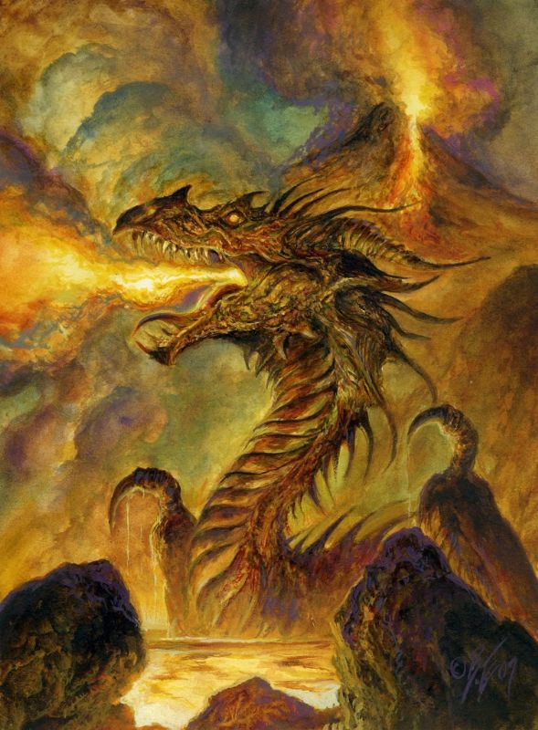 Volcanic Dragon by Bob Eggleton
