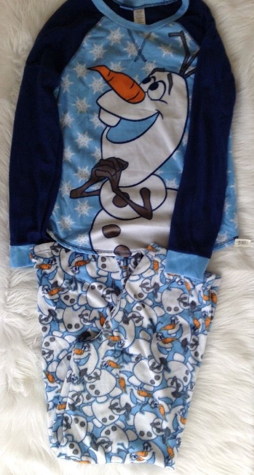 Disney Frozen Olaf Snowman Two Piece Pajamas PJs Pants Top Adult Small 4/6 NWT | Clothing, Shoes & Accessories, Women's Clothing, Intimates & Sleep | eBay!