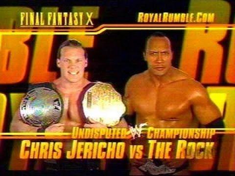 the rock vs chris jericho royal rumble 2002 full match + promo