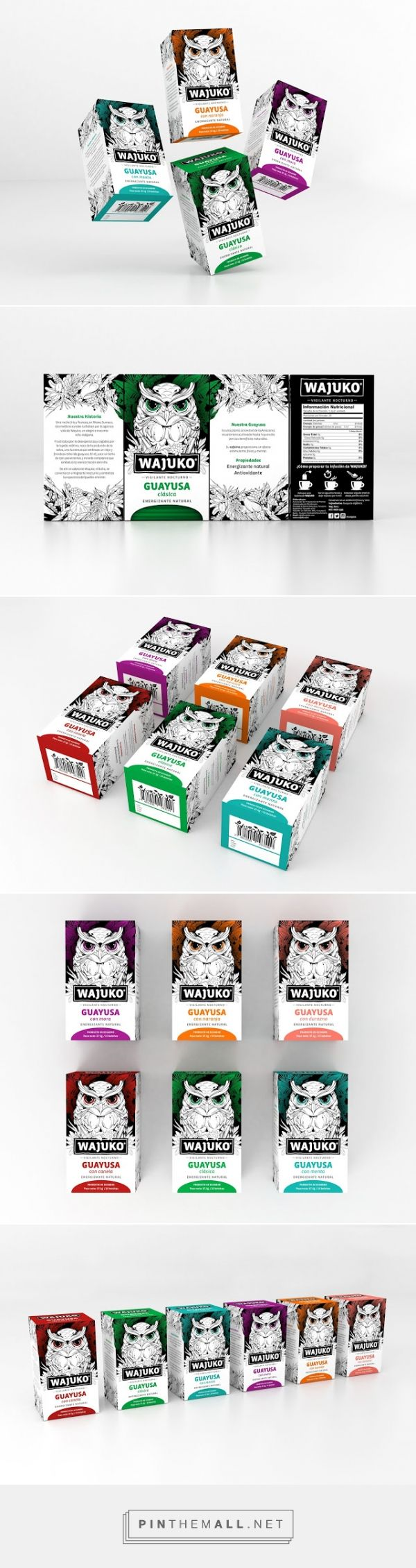 Wajuko | Guayusa Tea packaging designed by Gworkshop - http://www.packagingoftheworld.com/2015/09/wajuko-guayusa-tea.html