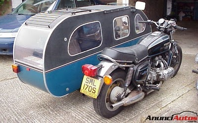 Caravan Camper Sidecar #motorcycles