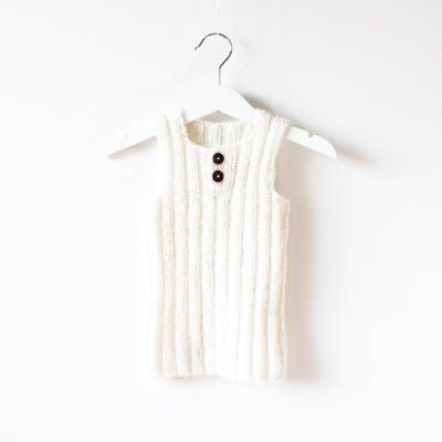 A baby to early teen knitting pattern to make a beautiful ribbed waistcoat…