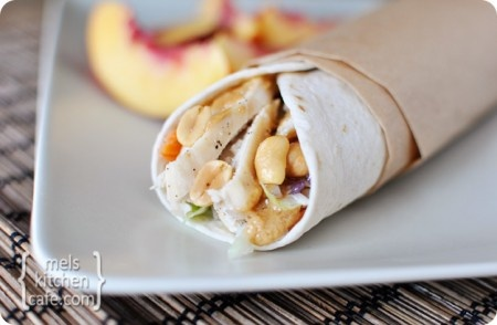 thai chicken wraps with peanut dipping sauce... looks easier than all the marinading and grilling of satay, but similar flavor...
