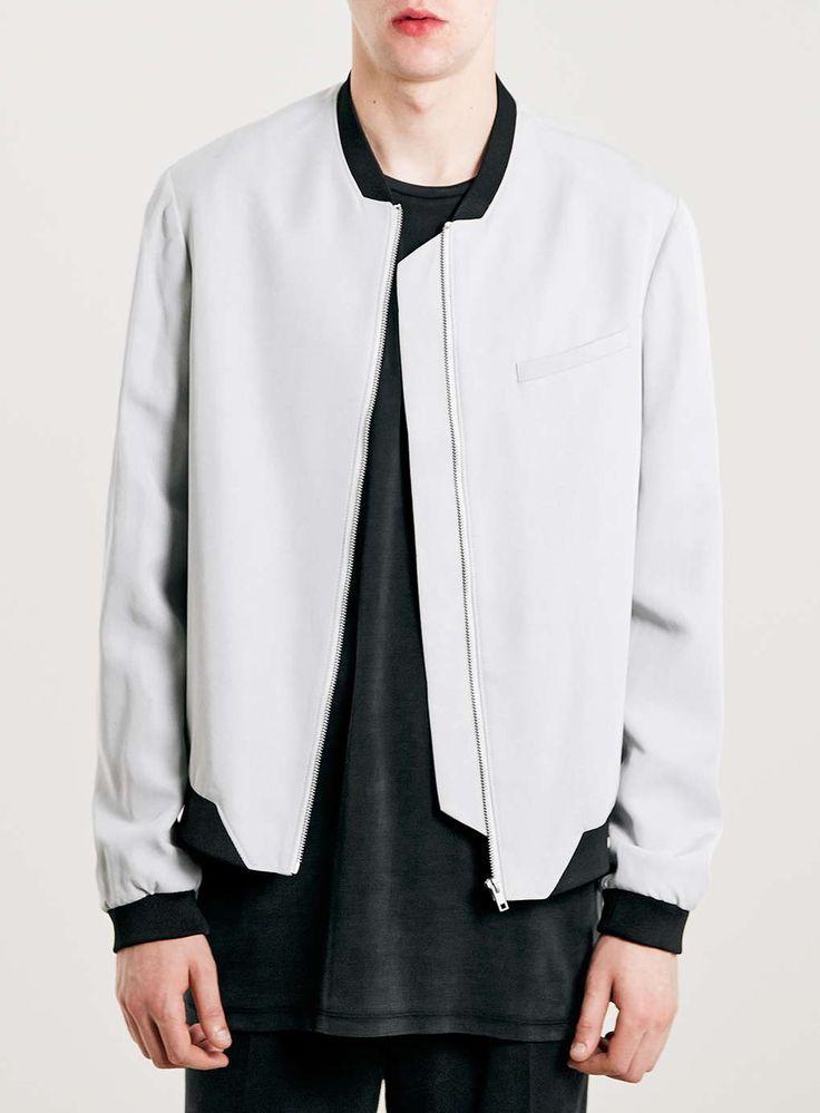 LUX Grey Bomber Jacket
