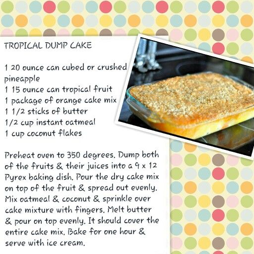 58 Best Images About Dump Cakes On Pinterest