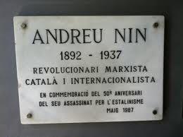Homenaje al revolucionario internacionalista Andreu Nin en el Parlament de Catalunya . Teresa Carbonell · David Companyon · Pello Erdociain · · ·