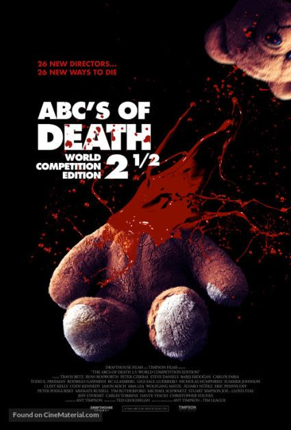 John's Horror Corner: The ABCs of Death 2.5 (2016), really not the best horror anthology, with a variety of perverted themes. | Movies, Films & Flix