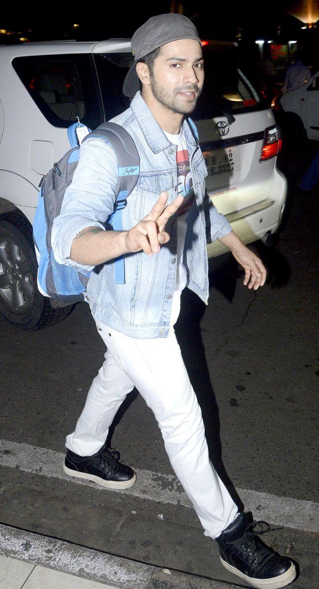 Varun Dhawan spotted at Mumbai airport. #Bollywood #Fashion #Style #Handsome #ABCD2