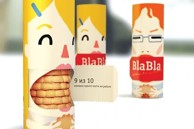 Bla Bla tea time biscuits. | The Latest In Cool Package Design