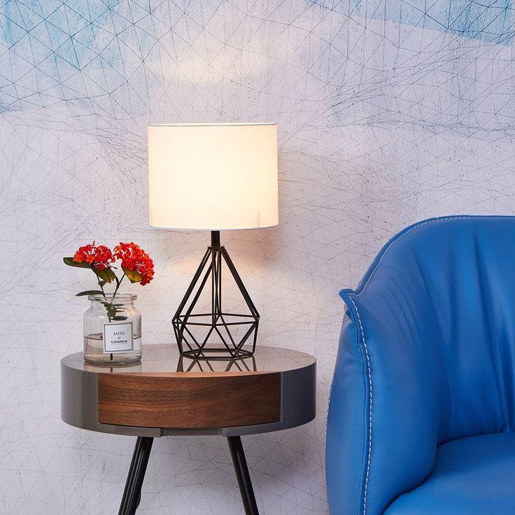 SOTTAE Black Hollowed Out Base Modern Livingroom Bedroom