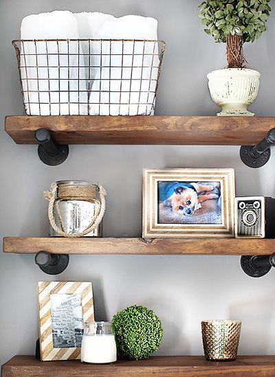 DIY Restoration Hardware-Inspired Shelves