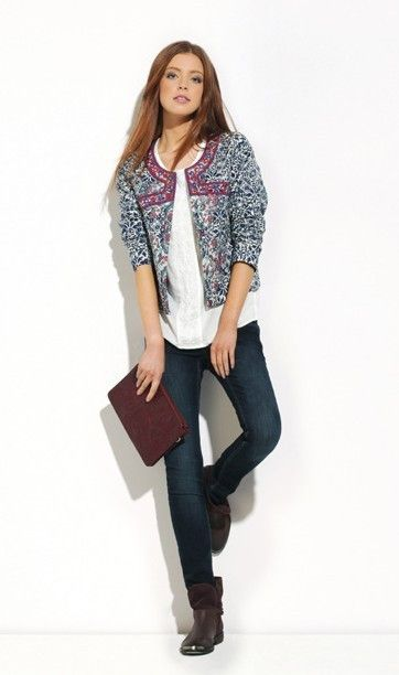 #Jacheta #casual-sport pentru tinute trendy. Jacheta pana in talie poate fi asortata cu bluze lungi, asimetrice.Comanda pe #TopFashion!