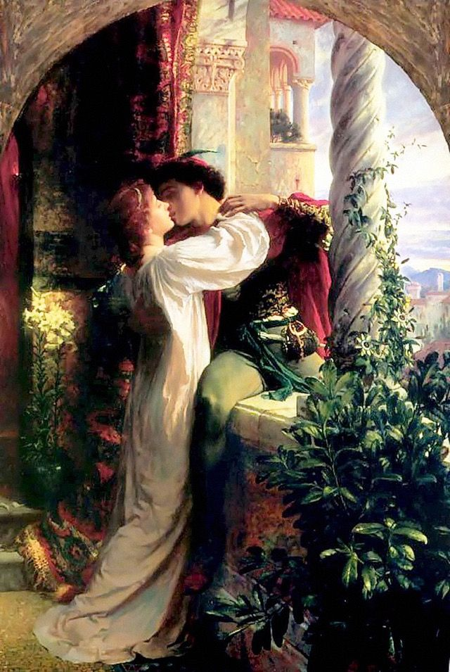 Romeo And Juliet, Frank Dicksee, Oil On Wood, 1884. [800x1194]