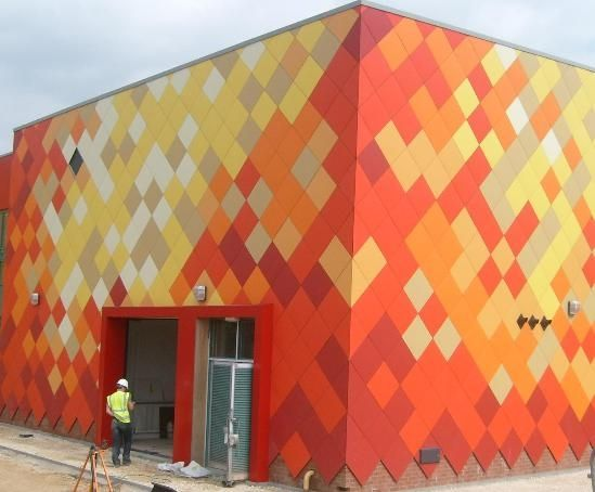 1000 images about walls facades panels and cladding for Facade colour ideas