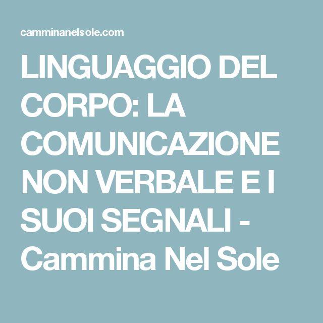 LINGUAGGIO DEL CORPO: LA COMUNICAZIONE NON VERBALE E I SUOI SEGNALI - Cammina Nel Sole