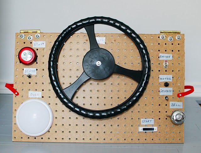 DIY kids steering wheel