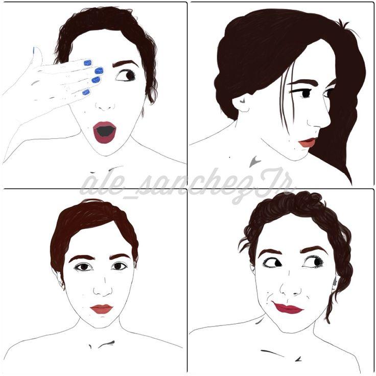 Ilustración en vectores. Vector illustration. Pulling Faces, haciendo caras http://do-love-lovedoign.blogspot.com/