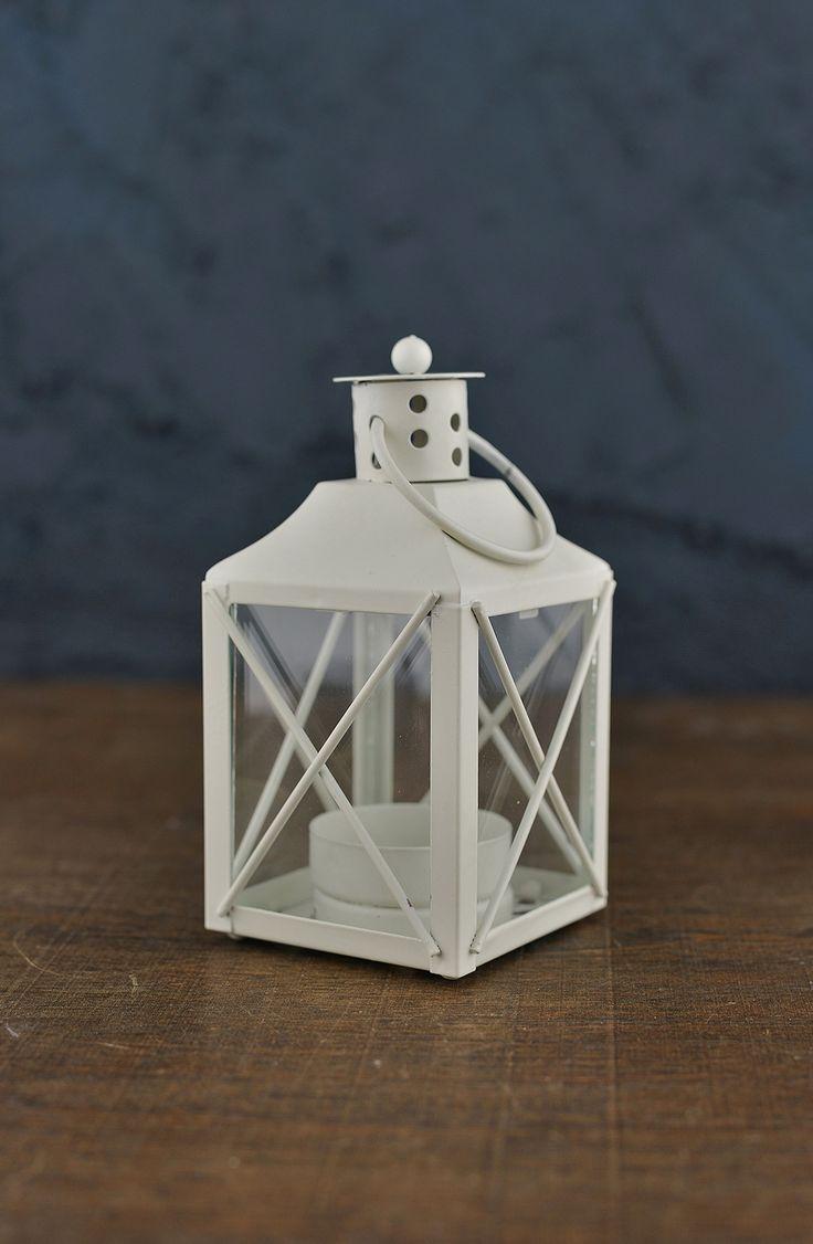 """12 White Tealight 5"""" Lanterns"""