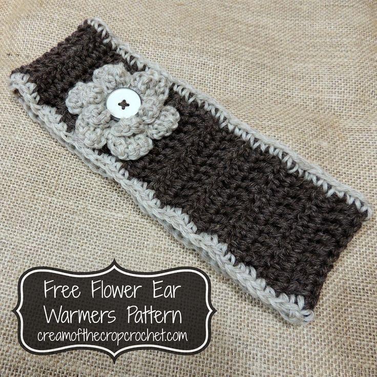 Lujo Earwarmer Patrón De Crochet Libre Componente - Manta de Tejer ...