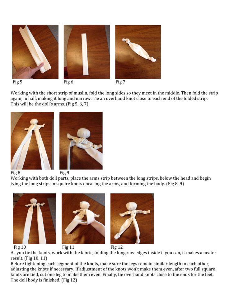 Knot Doll Detailed instructions page 3 of 5
