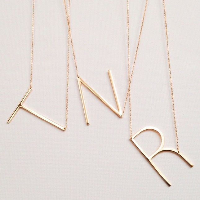 Show off your personality with a monogram necklace.
