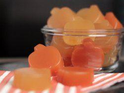 Frucht-Gummis, natürlich veganisiert mit Agar-Agar.