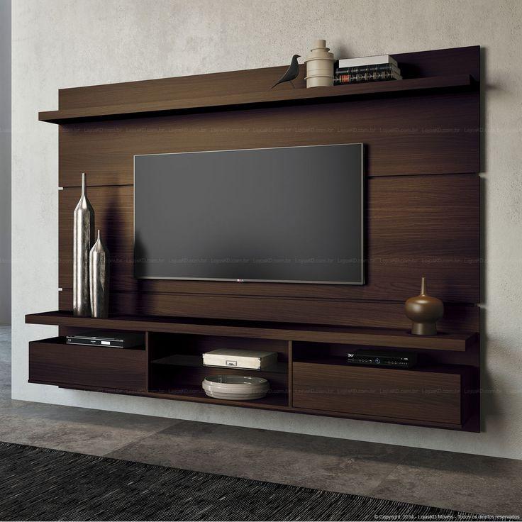 566,10 - Home Suspenso para TV até 60 Polegadas Livin 165 x 220 x 35 Mocaccino - HB Móveis | Lojas KD
