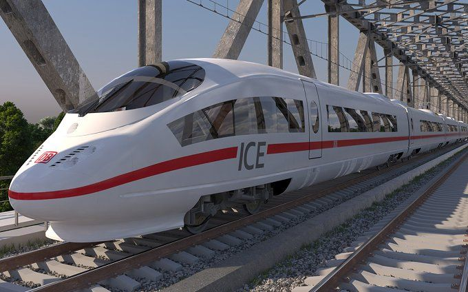 High-speed Train ICE 3 Siemens by 3D Models by Obshansky