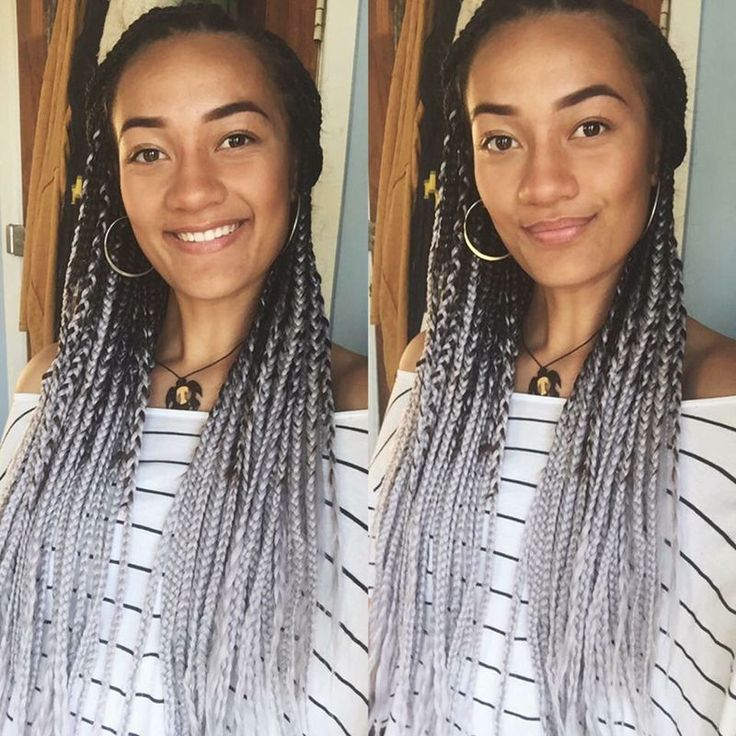 "8pcs 100g/pc 24"" Black&Grey Two Tone Ombre Kanekalon Jumbo Braiding Hair for Box Senegalese Crochet Twist Braids Dreadlocks"
