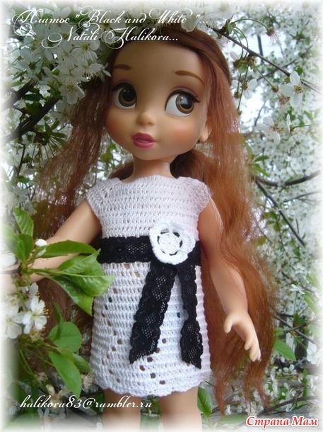 "Платье ""BLACK and WHITE"" и небольшой МК..."
