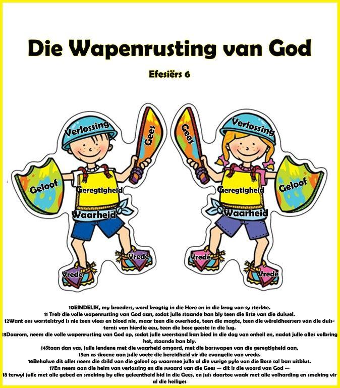 Wapenrusting Vir Kinders Believe Pinterest Bible