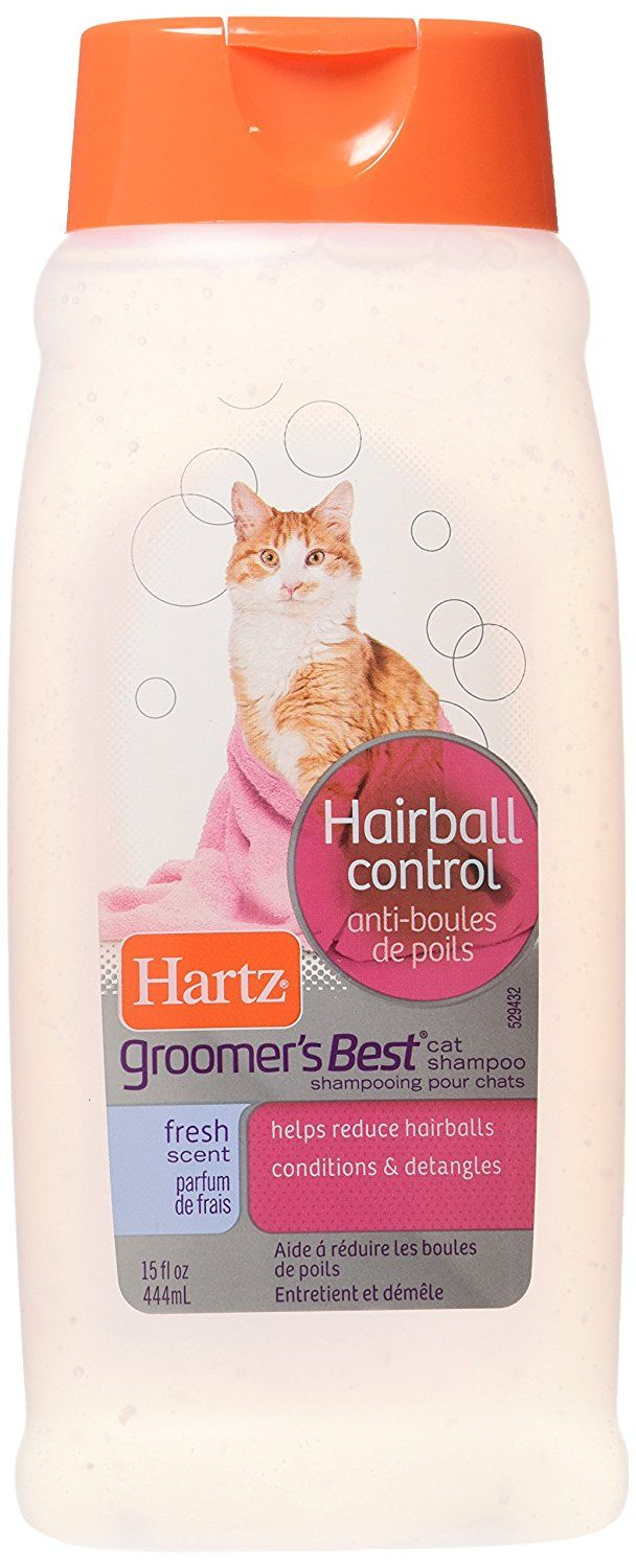 Hartz Groomer's Best Hairball Control Cat Shampoo Fresh Scent * You will love this! More info here : Cat Health and Supplies
