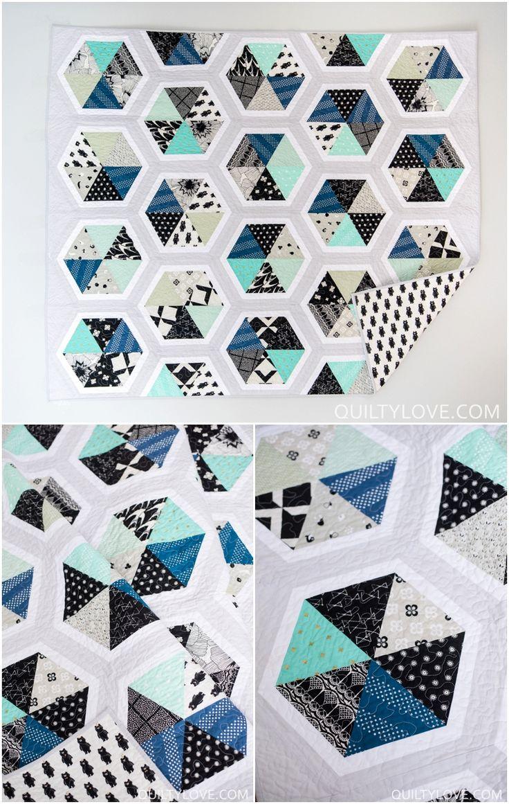 Best 25+ Hexagon quilt ideas on Pinterest   Hexagon quilt pattern ... : hexagon patterns for quilts - Adamdwight.com