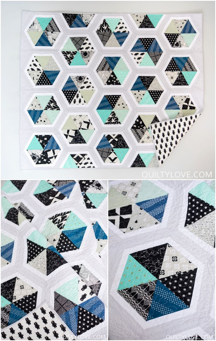 25+ best ideas about Hexagon quilt pattern on Pinterest Hexagon quilt, Patchwork patterns and ...