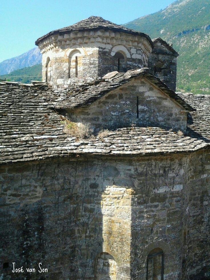 Greece... Aghia Ekaterinis ( Saint Aikaterinis) monastery -Katarraktis Ori Athamanon mountain, Athamanika or Tzoumerka is a mountain range in northwestern Greece, part of the wider Pindus mountain range. Its highest point is the mountain Kakarditsa, at 2,429 m.