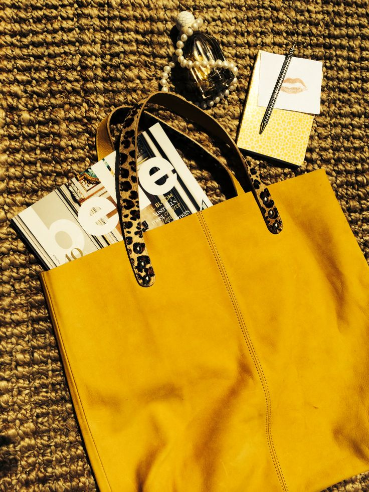 Allegra tote in suede and animal print handles