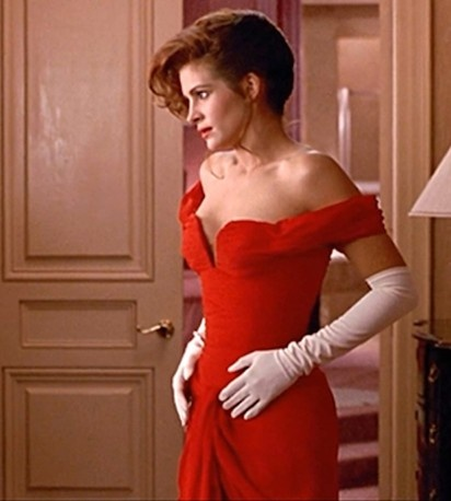 Julia Roberts in Marilyn Vance-Straker for Pretty Woman1990.  My favorite movie dress ever!