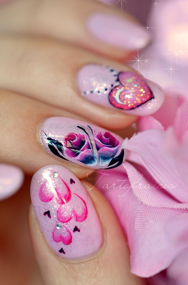 Les 25 meilleures id es de la cat gorie ongles saint valentin sur pinterest nail art saint - Ongle st valentin ...