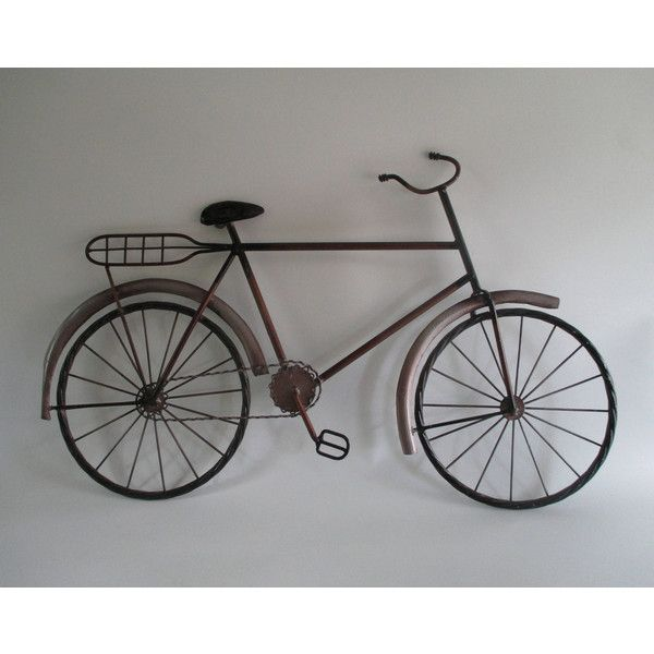 Metal Bicycle,Vintage Wall Art Whimsical, a la Curtis Jere, Retro... ($22) ❤ liked on Polyvore featuring home, home decor, wall art, c. jeré, beach metal wall art, metal bicycle wall art, bicycle home decor and c jere wall art