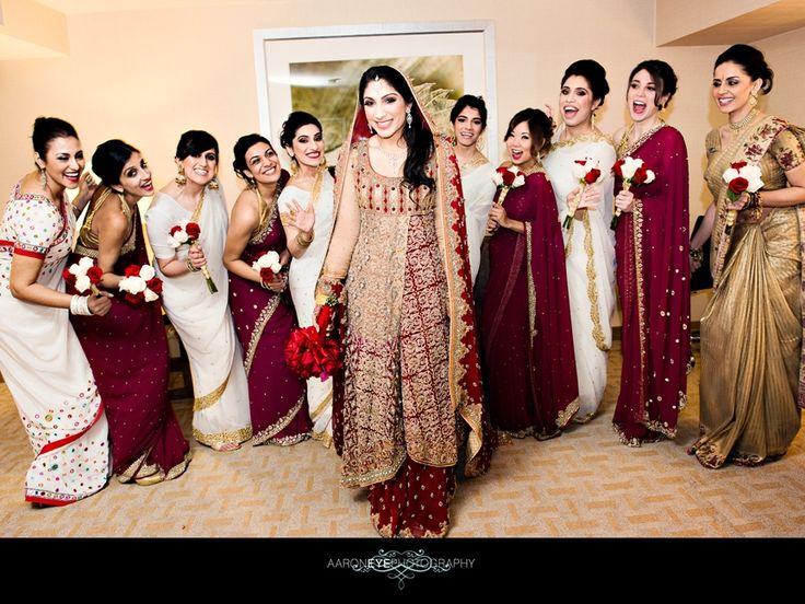 Beautiful bridesmaid sari #indian #shaadi #wedding #sari #southasian #shaadi #belles | Image courtesy of Aaron Eye Photography | for more inspiration visit www.shaadibelles.com