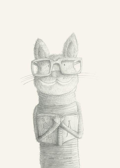 Mr Miao #cat#animals#glasses#books by Leo Bellei  https://flic.kr/p/DxCRrT