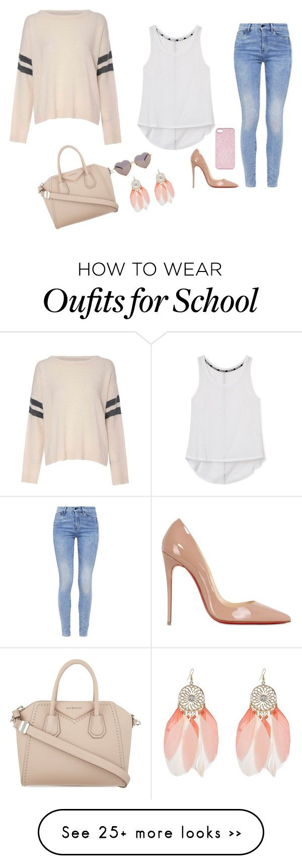 """School's out"" by seals23 on Polyvore featuring Glamorous, Rebecca Minkoff, G-Star, Christian Louboutin, Givenchy, Wildfox and Topshop"