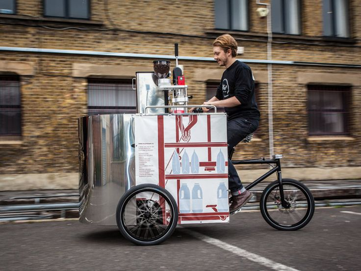Pedal-powered mobile coffee-making machine for off-grid selling of quality espresso with a compact footprint and near silent ultra-low carbon human-powered operation  Velopresso