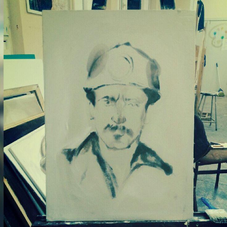 Madenci portre