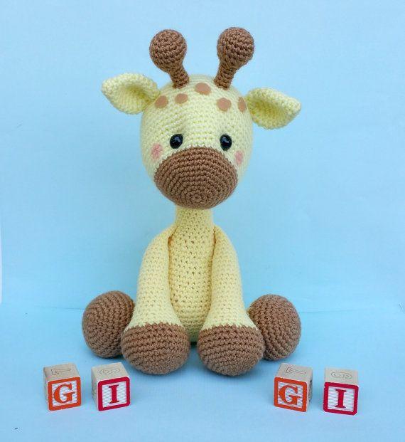 giraffe crochet pattern giraffe doll giraffe by ThePinkFoxStitches