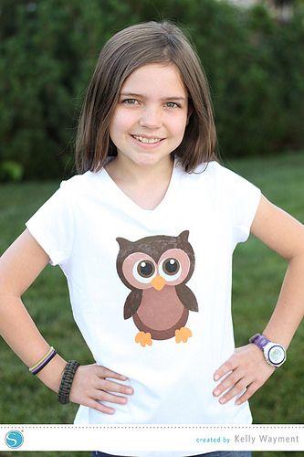 Multi-Layer-Stencil Owl Shirt